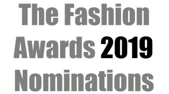 The Fashion Awards 2019 Nominations