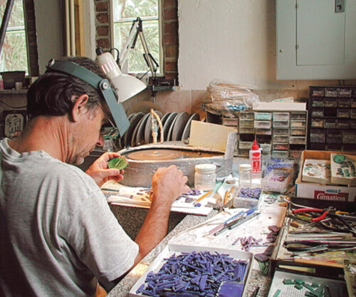 Nicolai Medvedev in his studio