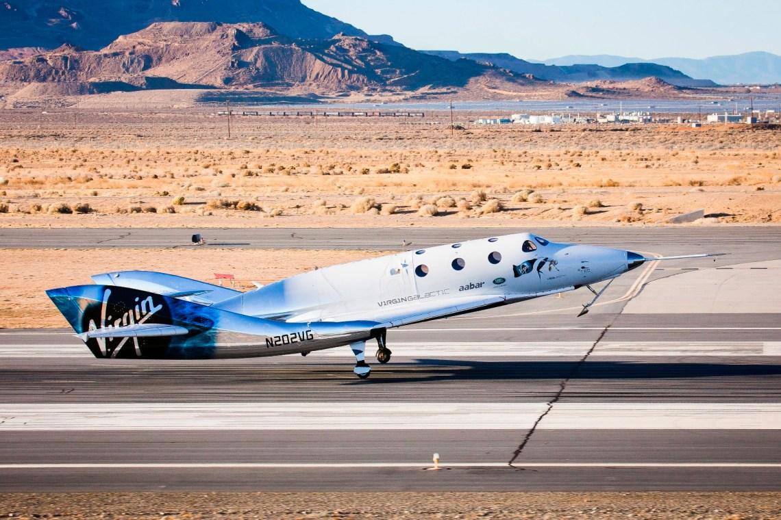 VSS Unity First Glide Flight
