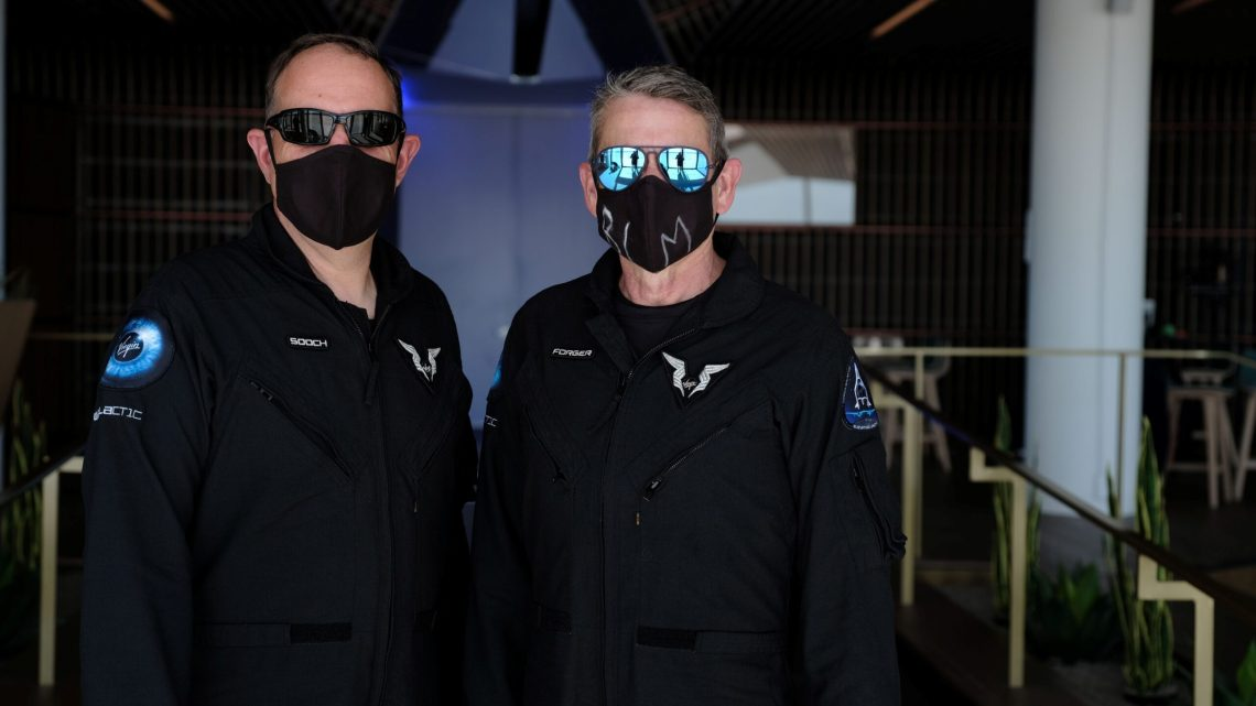 SpaceShipTwo pilots Mark 'Forger' Stucky and Michael 'Sooch' Masucci