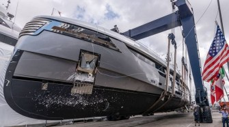 ROSSINAVI LAUNCHES SUPERYACHT IN VIAREGGIO, TUSCANY