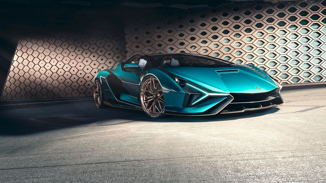 The Lamborghini Sián Roadster