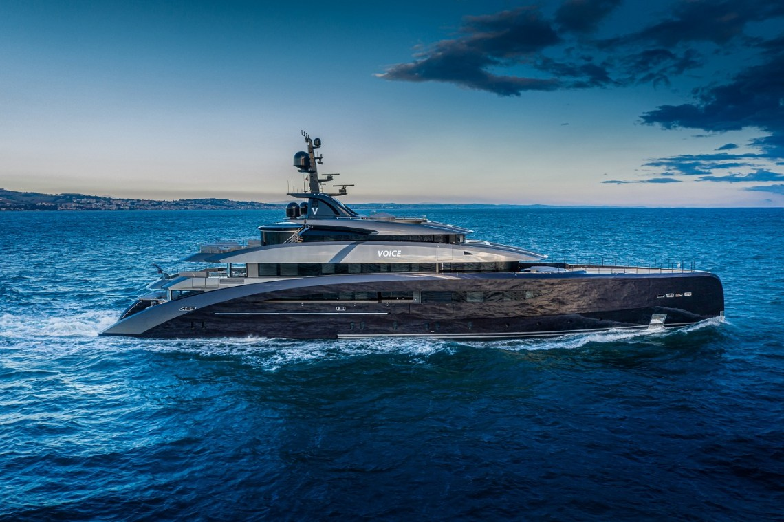 CRN delivers the M/Y 137 Megayacht.