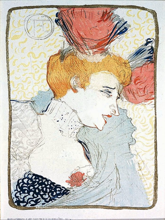 Mademoiselle Marcelle Lender, En Buste, by Henri de Toulouse-Lautrec (1895). Eight-color lithograph. Bequest of Isadore and Kelly Friedman.