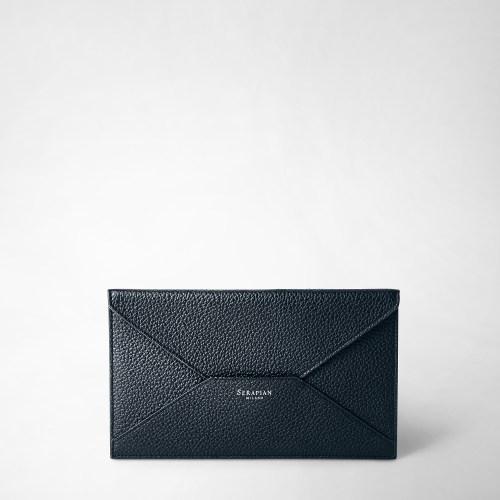 Serapian Envelope Cachemire leather blue