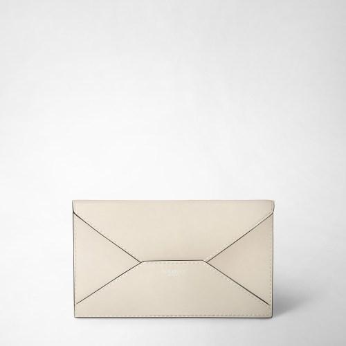 Serapian Envelope Plain leather beige