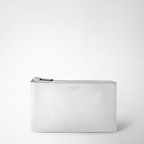 Serapian Pouch Cachemire leather white