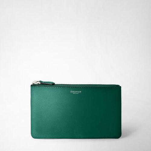 Serapian Pouch Plain leather emerald