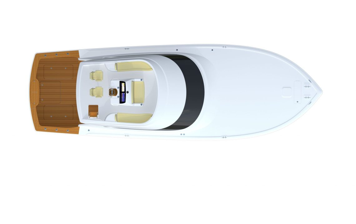 Viking Yachts' 54 Convertible Accomms Bridge