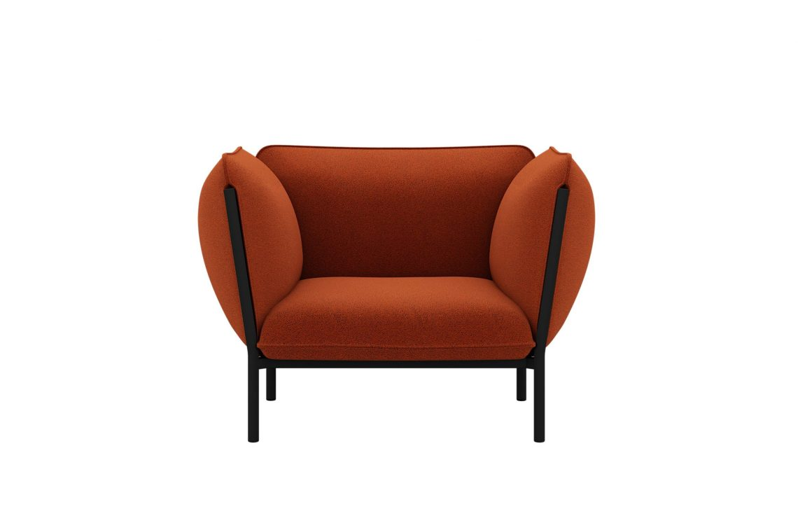 Kumo Single Seater Sofa with Armrests Canyon