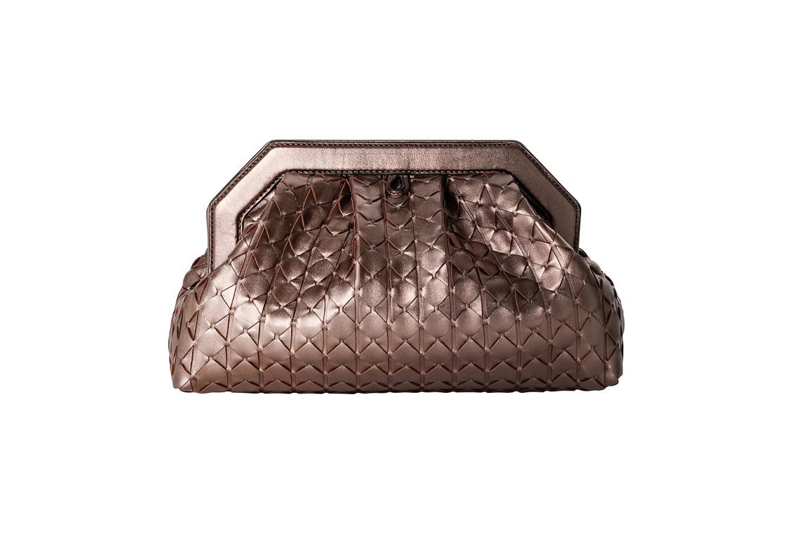 Serapian Secret clutch Mosaico Bronze SCXMOWLL7156M27A114