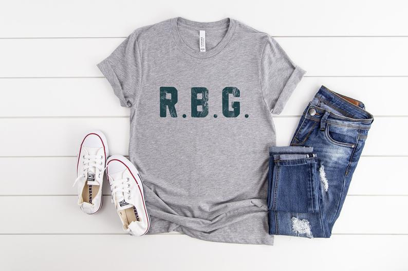casual t-shirt with the RBG initials