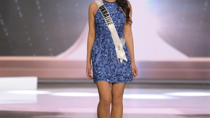 Yelyzaveta Yastremska, Miss Universe Ukraine 2020 on stage in fashion by Sherri Hill during the opening of the MISS UNIVERSE® Preliminary Competition at the Seminole Hard Rock Hotel & Casino in Hollywood, Florida on May 14, 2021. Tune in to the live telecast on FYI and Telemundo on Sunday, May 16 at 8:00 PM ET to see who will become the next Miss Universe.