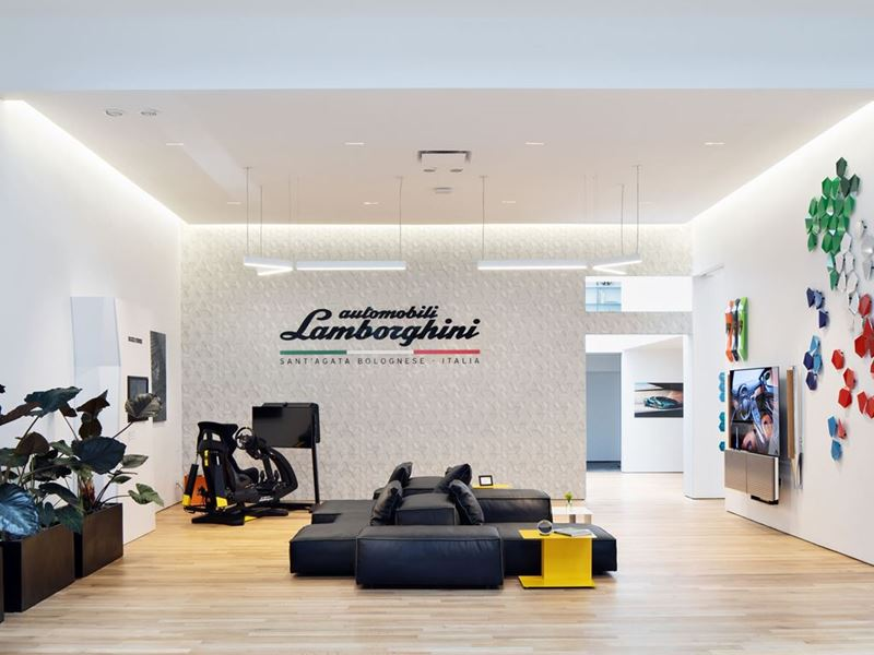 Lamborghini Lounge NYC - Living Room