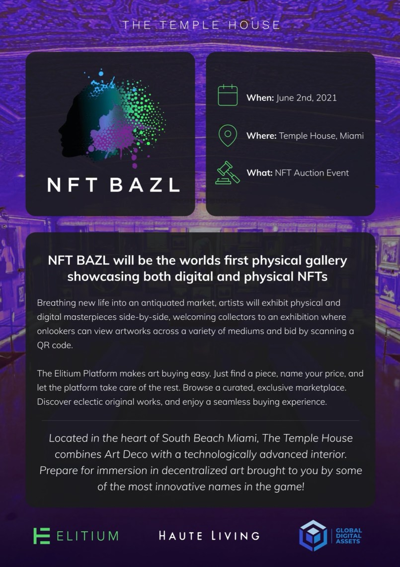 Elitium and GDA Capital Host Simultaneous NFT BAZL and NFT Summit