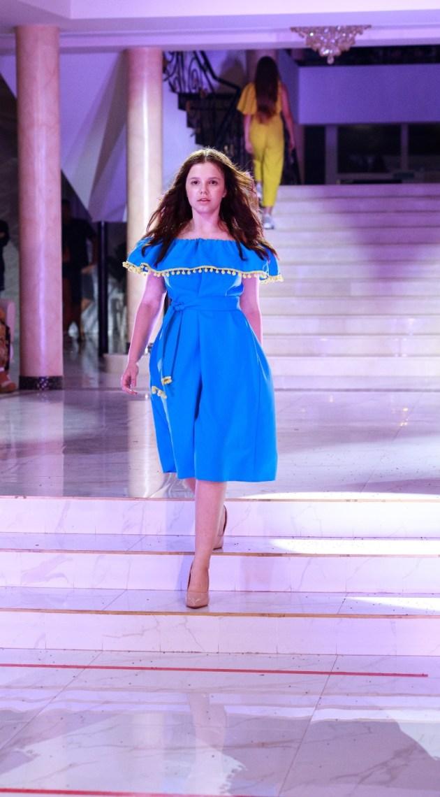 Designer Elena Bilyk with the spring-summer 2021 collection