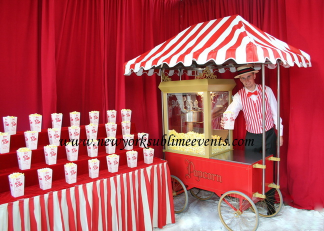 Popcorn rental popcorn machine popcorn bar rental New York NY NYC Brooklyn Queens Long