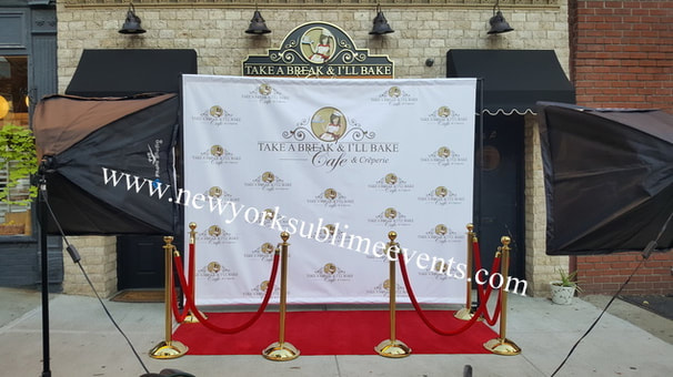 chair covers and sashes rental samsonite chairs uk step repeat, banner, backdrop rentals, red carpet, nyc, ny, new york, brooklyn, queens - ...