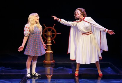 "Carly Tamer as Amy Carter and Alison Fraser as Betty Ford in ""Amy Carter's Fabulous Dream Adventure"" from First Daughter Suite"