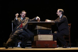 (l-r): Max Gordon Moore as Eugene O'Neill, Richard Topol as Lemml in INDECENT,