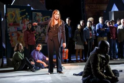 Eizabeth Marvel (center) and the company