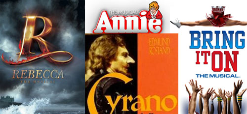 Broadway Fall 2012: Rebecca, Annie, Bring It On, Cyrano de Bergerac are among the choices