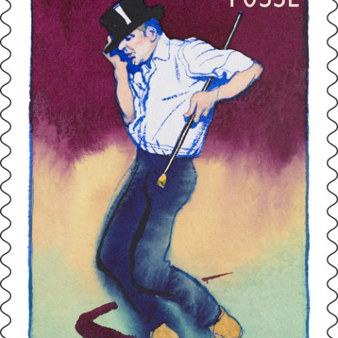 Stamp of choreographer Bob Fosse by United States Postal Service