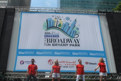 Broadway in Bryant Park July 26, 2012