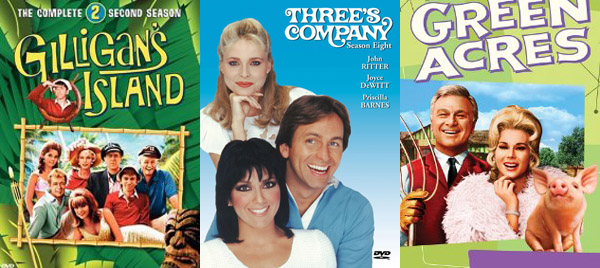 Gilligan's Island, Three's Company, Green Acres