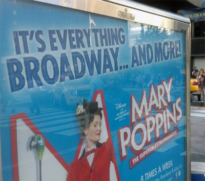 ad for Mary Poppins