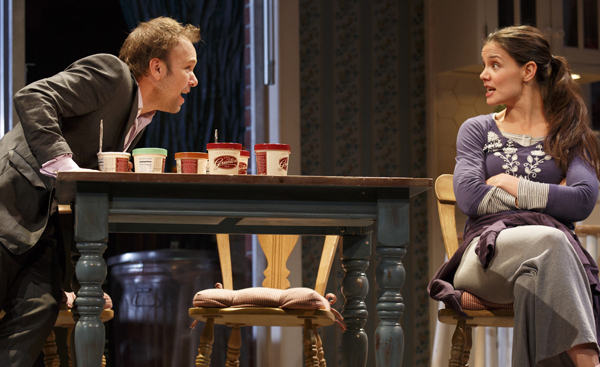Norbert Leo Butz and Katie Holmes in Dead Accounts on Broadway