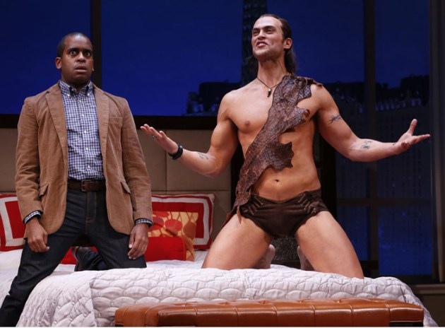 Daniel Breaker and Cheyenne Jackson in The Performers on Broadway
