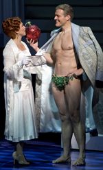 """Carolee Carmello and David Watts in Kathie Lee Gifford's """"Scandalous"""" about Aimee Semple McPherson"""