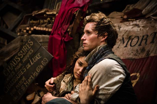 Les Miserables the movie: Samantha Barks as Eponine and Eddie Redmayne as Marius in one of the two moments in the two and a half hour movie that made me cry.