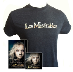 Win a gift card to Les Miserables plus Les Mix soundtrack, t-shirt, journal