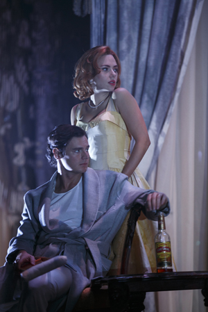 "Benjamin Walker and Scarlett Johansson in ""Cat On A Hot Tin Roof"""