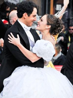 Fontana and Laura Osnes as Prince Charming and Cinderella