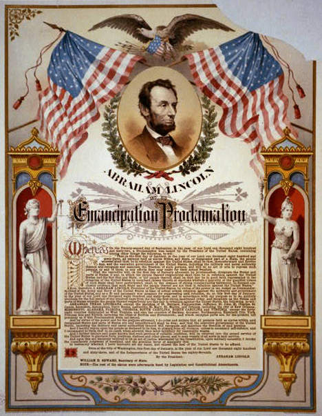 President Abraham Lincoln signed the Emancipation Proclamation 150 years ago -- on New Year's Day, 1863.