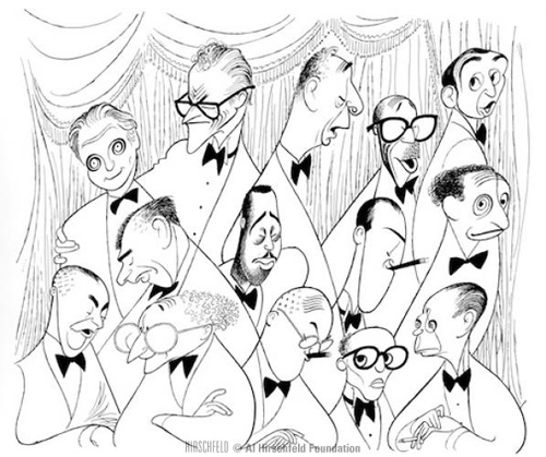 Songwriters of the Golden Age. You can spot George Gershwin in this illustration by Al Hirschfeld. Can you identify Harold Arlen?