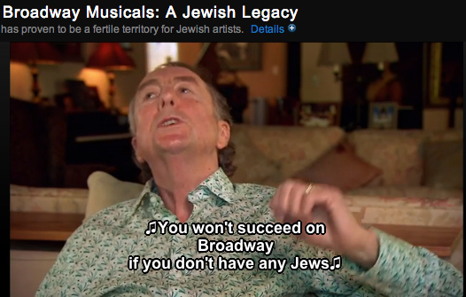 """Eric Idle singing a lyric from his musical """"Spamalot"""" on Broadway Musicals: A Jewish Legacy"""