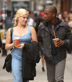 Megan Hilty and Leslie Odom Jr.,in Smash