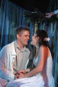 Aaron Carter and Addi McDaniel in The Fantasticks