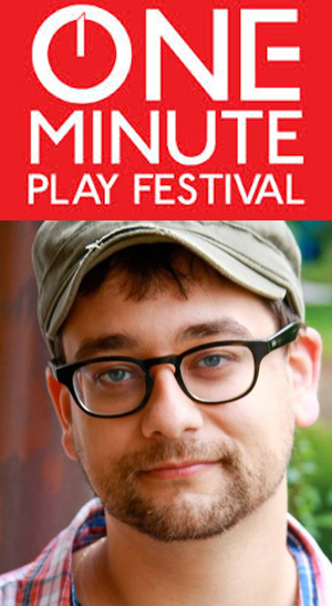One Minute Play Festival logo, founder Dominic D'Andrea