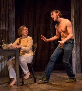 "Lisa Joyce and Zachary Booth played a married couple in ""The Mound Builders"" at Signature Theater"