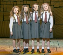 """The four girls sharing the title role in """"Matilda"""": Sophia Gennusa, Oona Laurence, Bailey Ryon and Milly Shapiro"""