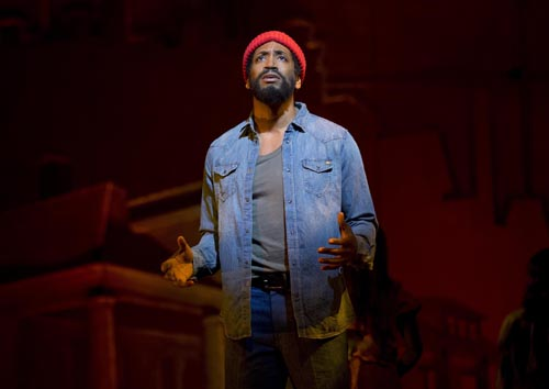 Bryan Terrell Clark as Marvin Gaye in Motown the Musical