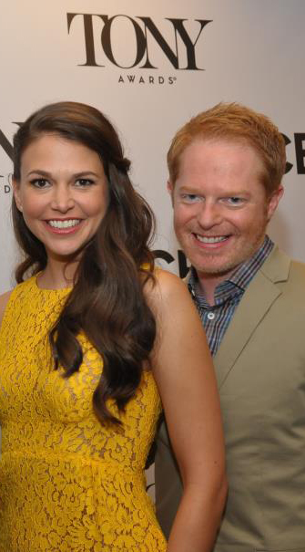 2013 Tony Award nomination announcers Sutton Foster and Jesse Tyler Ferguson
