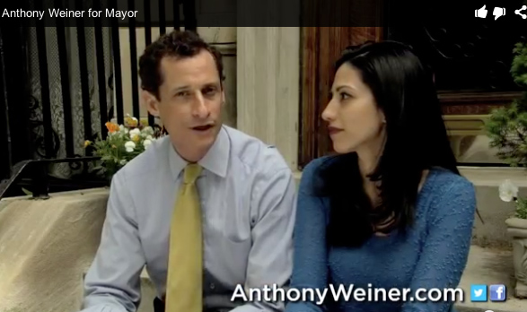 Anthony Weiner and wife in new campaign video