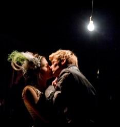 Lucas Steele with Phillipa Soo in Great Comet
