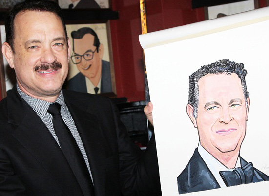 Tom Hanks Gets Sardis Caricature